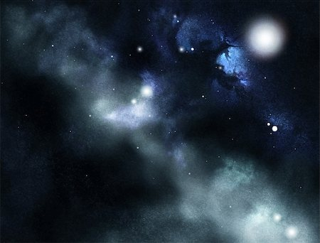 Digital created starfield with cosmic Nebula Stock Photo - Budget Royalty-Free & Subscription, Code: 400-05715410