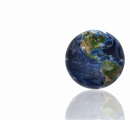 3d planet globe against a white background Stock Photo - Budget Royalty-Free & Subscription, Code: 400-05716343