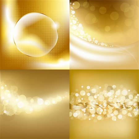 4 Gold Backgrounds, Vector Illustration Stock Photo - Budget Royalty-Free & Subscription, Code: 400-05716680