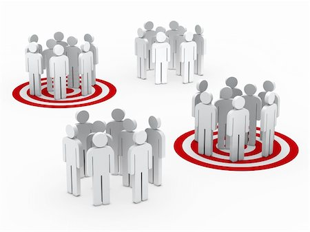 3d teamwork people group circle red tarbet Stock Photo - Budget Royalty-Free & Subscription, Code: 400-05717854