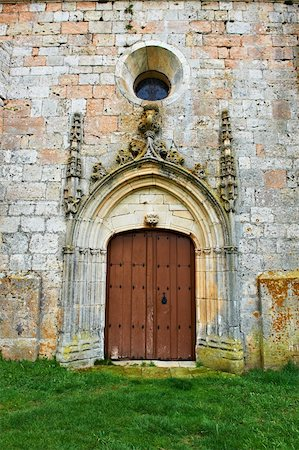 Detail of  Portal of the Romanesque Church in Spain Stock Photo - Budget Royalty-Free & Subscription, Code: 400-05711418