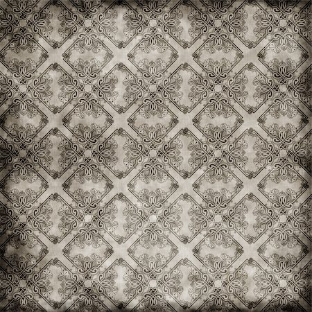 vintage wallpaper background pattern design Stock Photo - Budget Royalty-Free & Subscription, Code: 400-05712941