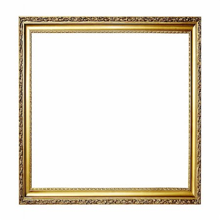 Gold picture frame Stock Photo - Budget Royalty-Free & Subscription, Code: 400-05713032