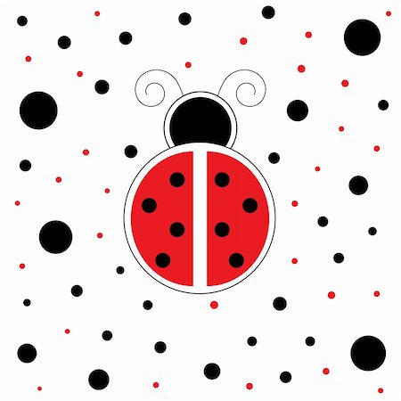 pretty in black clipart - Cute red and black ladybug ladybird Stock Photo - Budget Royalty-Free & Subscription, Code: 400-05713756