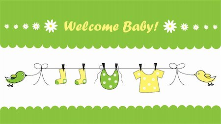 Welcome baby home invitation announcement Stock Photo - Budget Royalty-Free & Subscription, Code: 400-05713759