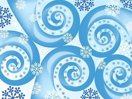 snowflake spiral abstract. holiday backgrounds. vector Stock Photo - Budget Royalty-Free & Subscription, Code: 400-05725186