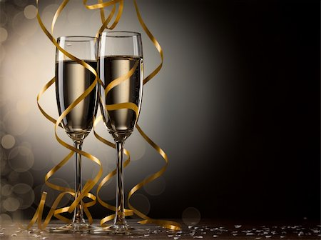Pair glass of champagne Stock Photo - Budget Royalty-Free & Subscription, Code: 400-05720795