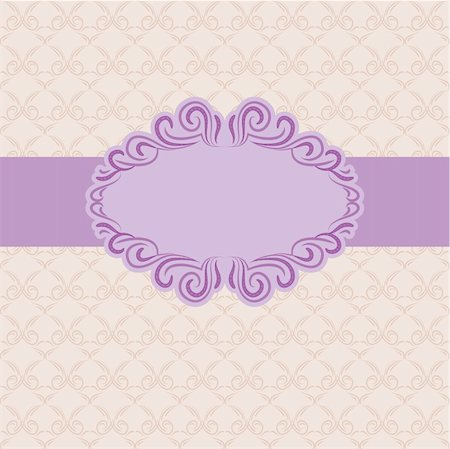 Template frame design for greeting card . Background - seamless pattern. Stock Photo - Budget Royalty-Free & Subscription, Code: 400-05721171