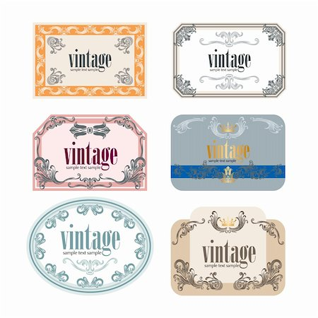 Vintage Wine Labels Set Stock Photo - Budget Royalty-Free & Subscription, Code: 400-05721506
