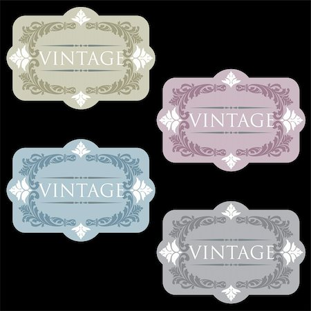 Vintage Wine Labels Set Stock Photo - Budget Royalty-Free & Subscription, Code: 400-05721538