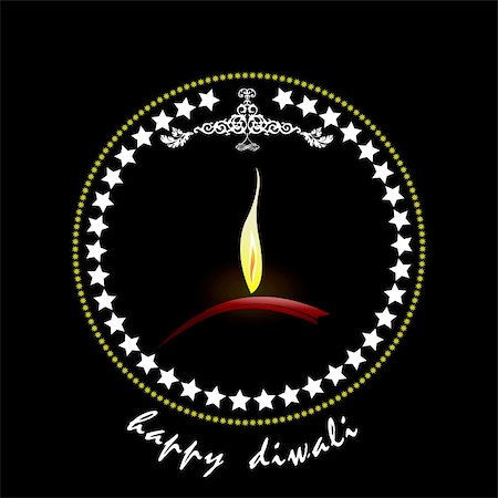 Diwali Greeting. Vector illustration Stock Photo - Budget Royalty-Free & Subscription, Code: 400-05721888