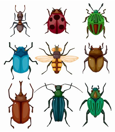 cartoon insect bug icon Stock Photo - Budget Royalty-Free & Subscription, Code: 400-05723001