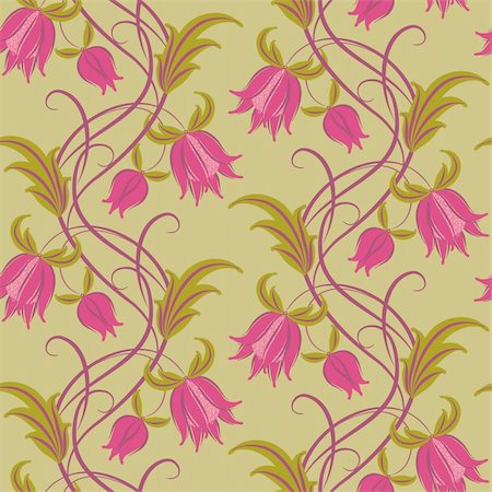 Seamless pattern. Floral design, in vintage style. Stock Photo - Budget Royalty-Free & Subscription, Code: 400-05723544