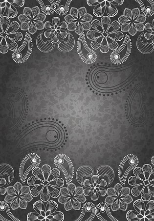decorative background, black and white Stock Photo - Budget Royalty-Free & Subscription, Code: 400-05734091