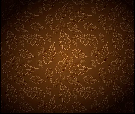 Oak leafs texture outline drawing - autumn background Stock Photo - Budget Royalty-Free & Subscription, Code: 400-05734345