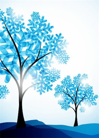 winter background, a tree in the snow Stock Photo - Budget Royalty-Free & Subscription, Code: 400-05737044