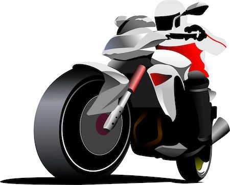 sports scooters - Biker. Vector illustration Stock Photo - Budget Royalty-Free & Subscription, Code: 400-05737063