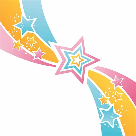 colorful stars background Stock Photo - Budget Royalty-Free & Subscription, Code: 400-05738231