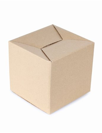 Color photo of a large cardboard box Stock Photo - Budget Royalty-Free & Subscription, Code: 400-05738629