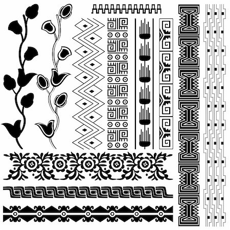 Vector image of ancient american pattern on white Stock Photo - Budget Royalty-Free & Subscription, Code: 400-05732622
