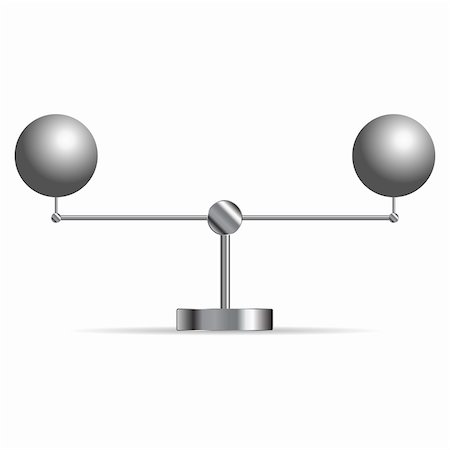 scalable - Two metallic spheres supported in a cradle over white Stock Photo - Budget Royalty-Free & Subscription, Code: 400-05733547