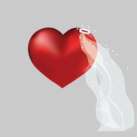 simsearch:400-04863562,k - Love heart in bridal valentine cute wedding background. Vector object for design. Stock Photo - Budget Royalty-Free & Subscription, Code: 400-05733636
