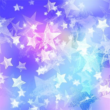 pretty pink star white background - blue and pink stars over azure background Stock Photo - Budget Royalty-Free & Subscription, Code: 400-05745238