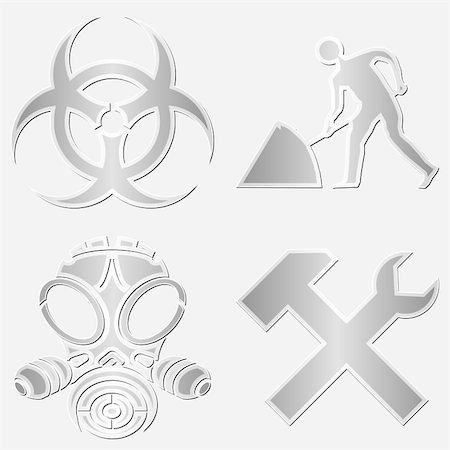 scalable - Different warning symbols stickers Stock Photo - Budget Royalty-Free & Subscription, Code: 400-05745351