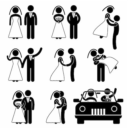 simsearch:400-04863562,k - A set of pictogram about wedding and marriage. Stock Photo - Budget Royalty-Free & Subscription, Code: 400-05746609