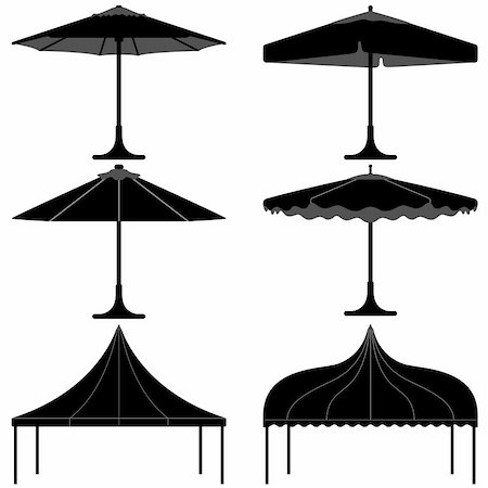 A set of gazebo and tent design for party. Stock Photo - Budget Royalty-Free & Subscription, Code: 400-05746664
