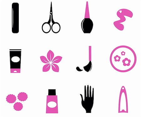 Manicure and nails icon set, vector design elements Stock Photo - Budget Royalty-Free & Subscription, Code: 400-05747595