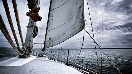 sailing boat storm - A yacht travelling through a storm Stock Photo - Budget Royalty-Free & Subscription, Code: 400-05749316