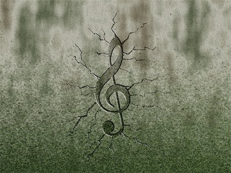 clef relief on stone background Stock Photo - Budget Royalty-Free & Subscription, Code: 400-05749365