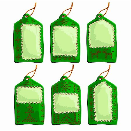 set of christmas tags, this illustration may be useful as designer work Stock Photo - Budget Royalty-Free & Subscription, Code: 400-05742123