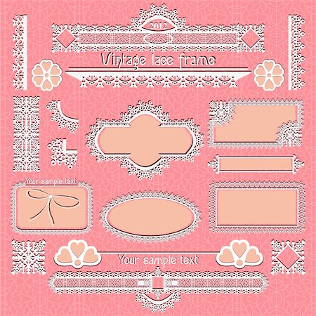 Vector set of vintage framed ornate labels & page decor design element Stock Photo - Budget Royalty-Free & Subscription, Code: 400-05742164