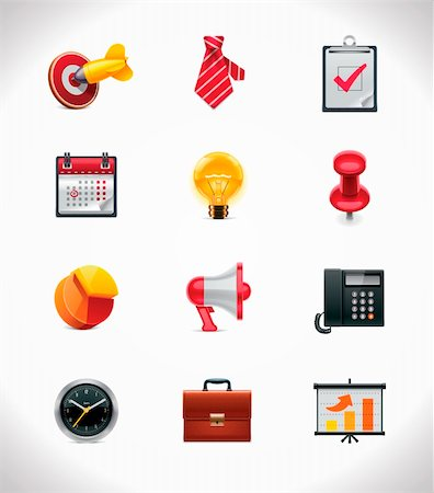 report icon - Set of the detailed business related icons Stock Photo - Budget Royalty-Free & Subscription, Code: 400-05743737