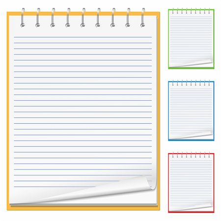 Blank Notebook, vector eps10 illustration Stock Photo - Budget Royalty-Free & Subscription, Code: 400-05754027