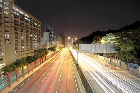 traffic through downtown at night Stock Photo - Budget Royalty-Free & Subscription, Code: 400-05754688