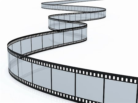 film strip - 3d render of film strip on white background Stock Photo - Budget Royalty-Free & Subscription, Code: 400-05754834