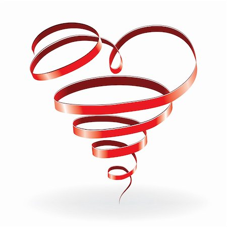 svetap (artist) - Heart love card, valentine day, background with ribbon, vector illustration Stock Photo - Budget Royalty-Free & Subscription, Code: 400-05750163