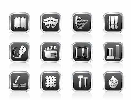 different kind of Arts Icons - Vector Icon Set Stock Photo - Budget Royalty-Free & Subscription, Code: 400-05750820