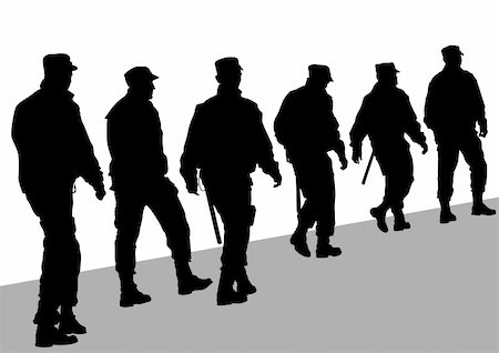 Vector image of police in form of protective Stock Photo - Budget Royalty-Free & Subscription, Code: 400-05752187