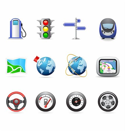 Road icons Stock Photo - Budget Royalty-Free & Subscription, Code: 400-05877155