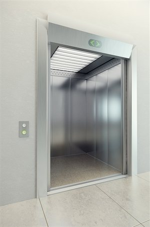 modern elevator with open doors Stock Photo - Budget Royalty-Free & Subscription, Code: 400-05878513