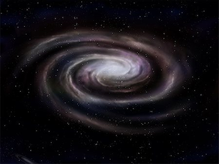 Illustration of a deep space spiral galaxy Stock Photo - Budget Royalty-Free & Subscription, Code: 400-05878714