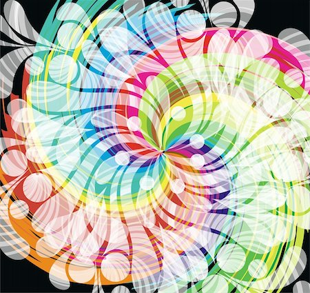 colorful swirl background, vector Stock Photo - Budget Royalty-Free & Subscription, Code: 400-05878859