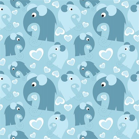 simsearch:400-04597082,k - seamless pattern with grey elephant and heart Stock Photo - Budget Royalty-Free & Subscription, Code: 400-05879911