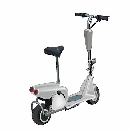sports scooters - Illustration of a go-ped on a   white background. Stock Photo - Budget Royalty-Free & Subscription, Code: 400-05884476