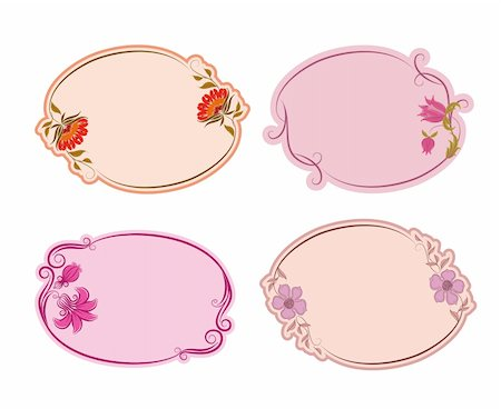 simsearch:400-04872199,k - Set of ornate vector frames . Floral design. Basic elements are grouped. Stock Photo - Budget Royalty-Free & Subscription, Code: 400-05885214