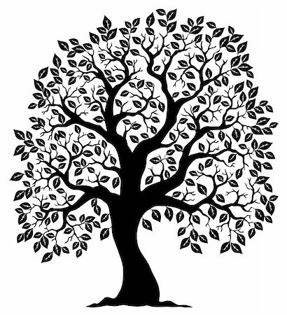Tree shaped silhouette 3 - vector illustration. Stock Photo - Budget Royalty-Free & Subscription, Code: 400-05885717